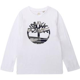 Timberland Bigger Boys Long Sleeved Winter T-shirt T25Q21-19 WHITE
