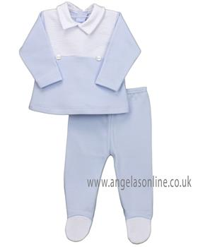 Rapife baby boys two piece winter set with white details 4912-19 Blue