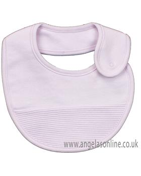 Rapife baby girls striped bib with pop button fastening 4919-19 Pink