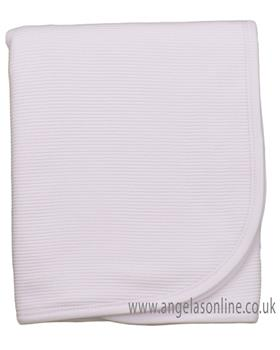 Rapife baby girls striped blanket with rounded edge 4920-19 Pink