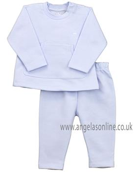 Rapife baby boys plain tracksuit with pocket & logo 4968-19 Blue
