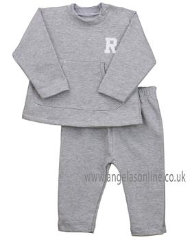 Rapife baby girls long sleeve tracksuit with pocket 4970-19 Grey