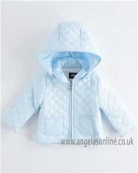 I Do baby boys padded winter jacket with detachable hood 4K465-19 Blue