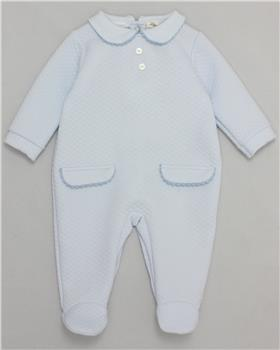Mintini baby boys babygrow MB2994-A-19 Blue
