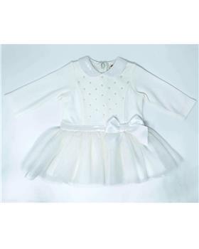 Mintini baby girls dress MB2813-19 Cream