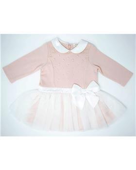 Mintini baby girls dress MB2813C-19 Pink
