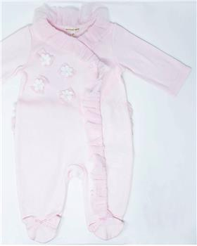 Mintini baby new girls frilled winter floral babygrow MB2807-19 Pink