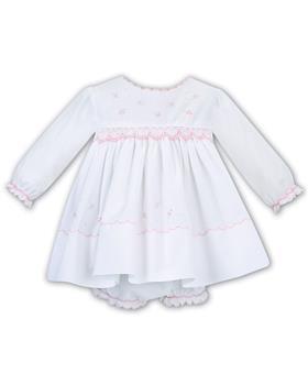Sarah Louise newborn baby girls floral dress & pants 011616-19 Wh/Pk