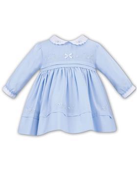 Sarah Louise girls dress 011620-19 Bl/Wh