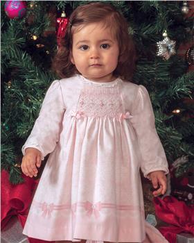 Sarah Louise baby girls long sleeve printed winter dress 011676-19