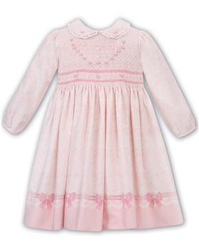 Sarah Louise girls long sleeve patterned floral winter dress 011677-19