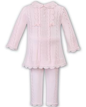 Sarah Louise girls 2 piece set 008092-19 Pink