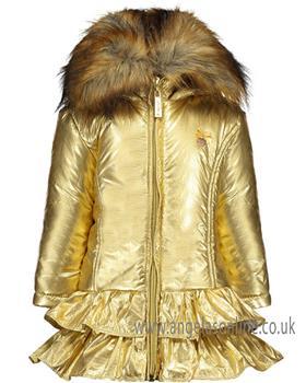S&D Le Chic girls gold winter coat C908-5200