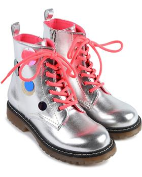 Billieblush girls silver boots U19205 silver