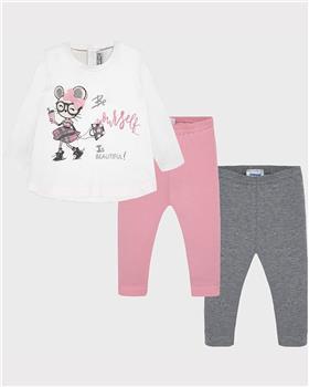 Mayoral baby girls three piece leg set 2746-19 Pink