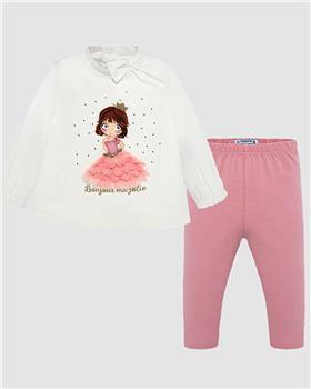 Mayoral girls legging set 2743-19 Pink