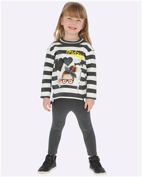 Mayoral girls striped Friday outfit 4713-19 Yellow