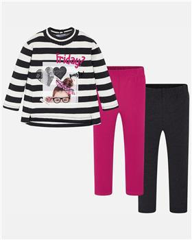 Mayoral girls striped Friday outfit 4713-19 Pink