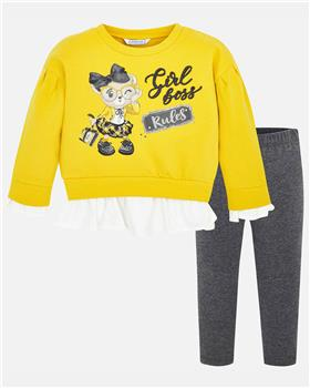 Mayoral girls girl boss outfit 4714-19 Yellow