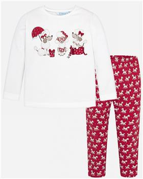 Mayoral girls top & legging set 4016-4706-19 Red