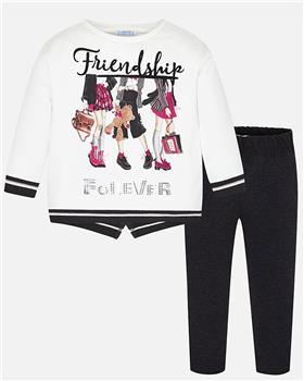 Mayoral girls friendship legging set 4712-19 Pink