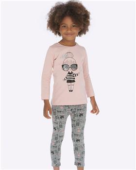 Mayoral girls top & legging set 4016-4706-19 Pk/Gry