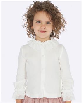 Mayoral girls blouse 4101-19 Ivory