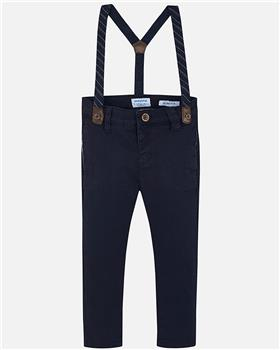 Mayoral boys trousers with brace 4522-19 Navy