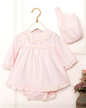 Dolce Petit Girls Dress & Knicks 26-2000-VB & Bib