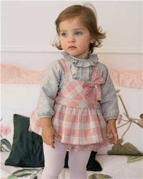Dolce Petit Girls Jumper & Checked Bubble 26-2118-23-19 PK/GR