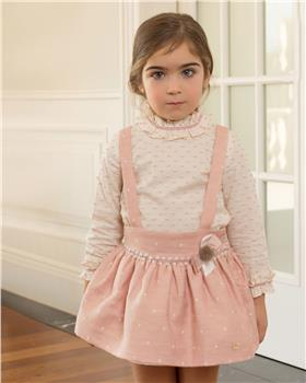 Dolce Petit Girls Blouse & Skirt 26-2200-23-19 CR/PK