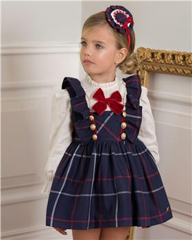 Dolce Petit girls blouse & pinafore 26-2212-2P