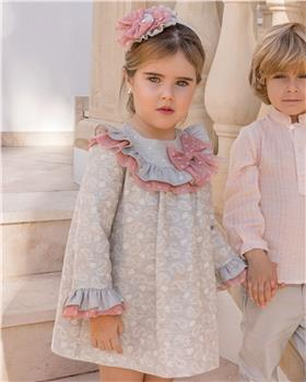 Dolce Petit Girls Paisley Dress 26-2217-V-19 GREY