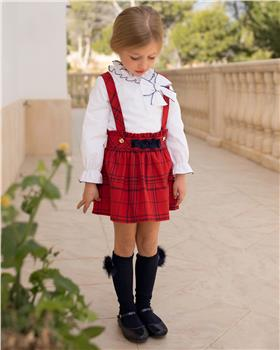 Dolce Petit Girls Blouse & Skirt 26-2220-23-19 RED