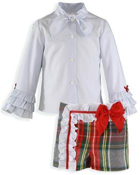 Miranda girls blouse & short set 26-0236-23-19