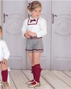 Miranda girls blouse and shorts set 26-0281-23-19