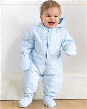 Emile Et Rose Boys Padded Snowsuit ROHAN 1855-19 BLUE