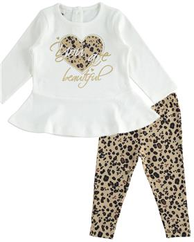 I Do girls top & legging set 4K675-19 Leopard