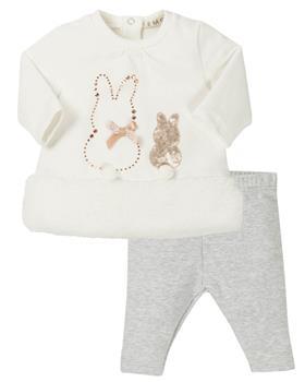 EMC Girls Bunny Legging Set CO2598-19 CREAM