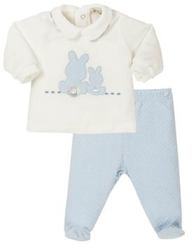 EMC boys velour bunny top & pants CO2603-19 Bl/Wh