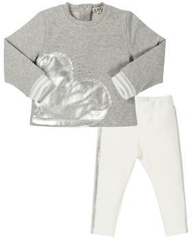 EMC girls jumper and glitter leggings set CE1477-6381-19 Grey