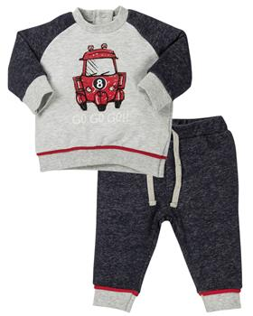 EMC boys jog suit CO2596-19 Gry/Red