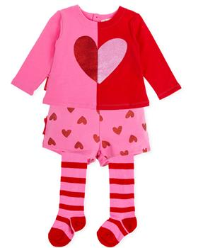 Agatha Ruiz girls heart top 3 piece 8123-19 Pink