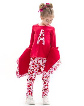Agatha Ruiz De La Prada Girls Legging Set 8027-19 RED
