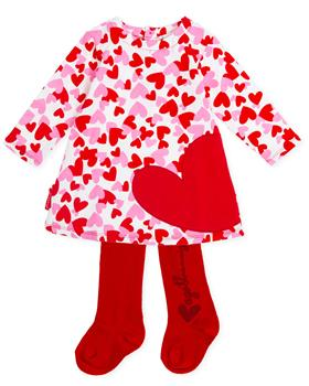 Agatha Ruiz De La Prada Girls Dress & Tights 8227-19 Red