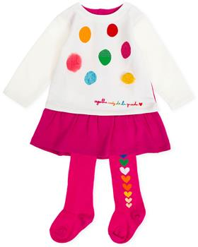 Agatha Ruiz De La Prada Girls Dress & Tights 8225-19 CERISE