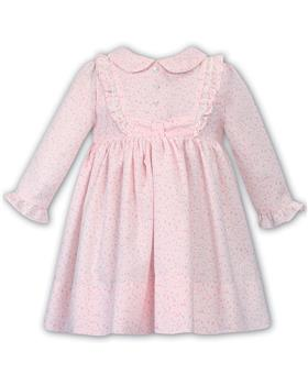 Dani baby girls new frilled floral winter dress with buttons D09365-19