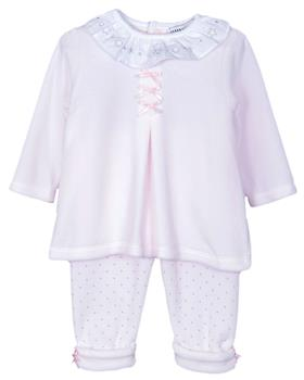 Jacob Matthews baby girls frilled 2 piece set JMW19-010D Pink