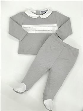 Babidu Baby boys long sleeve 2 piece set 55190-19 Grey