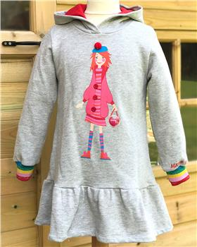 Agatha ruiz De La Prada Girls Stardust Dress 7VE3255-19 GREY